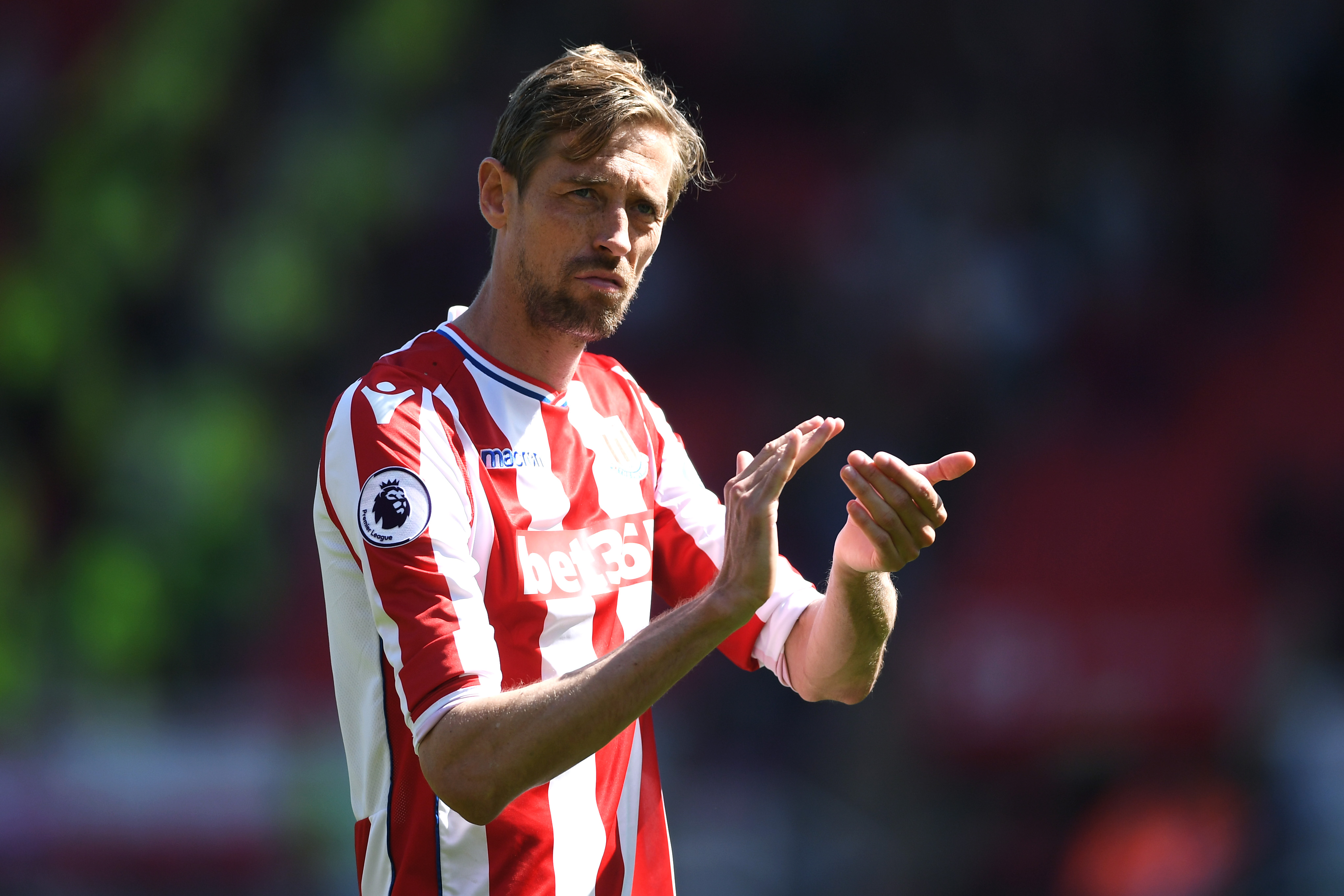 Peter Crouch left Stoke in January to join Burnley