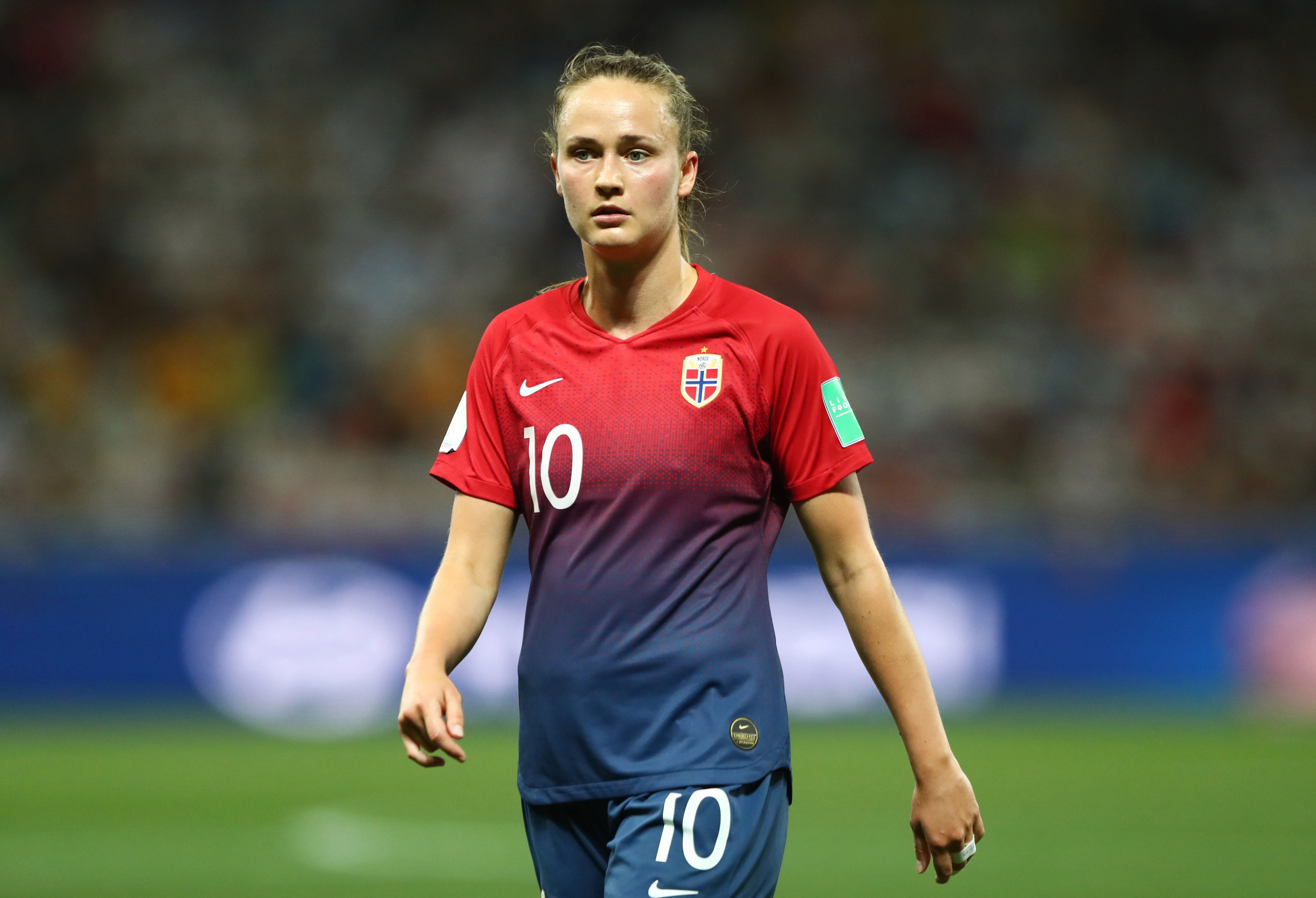 Caroline Graham Hansen scored a penalty in the fifth minute against South Korea