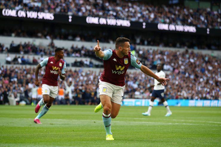 John McGinn put Aston Villa ahead after nine minutes