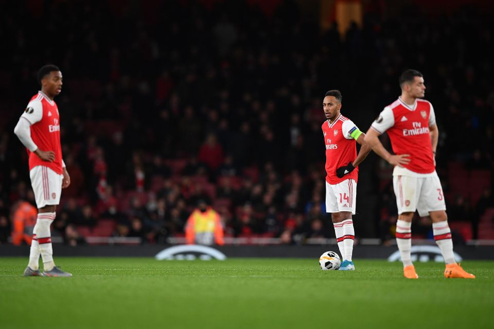 Arsenal fell to their first home defeat of the season against Frankfurt on Thursday night