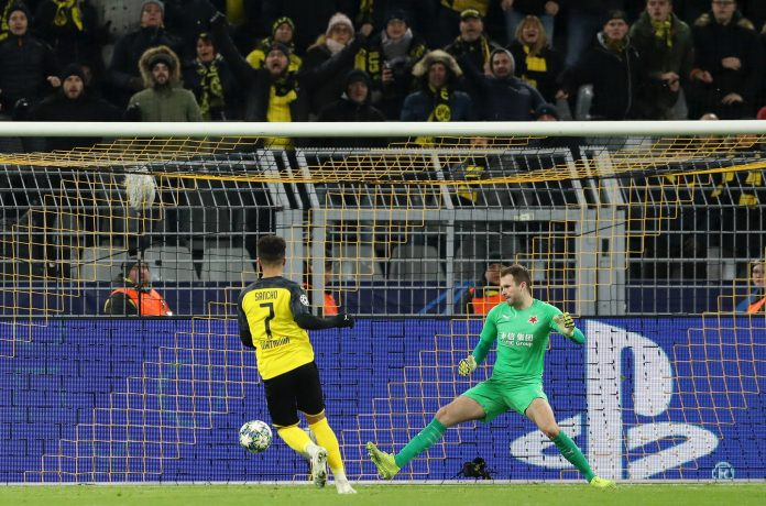 Sancho helped Dortmund reach the knockouts