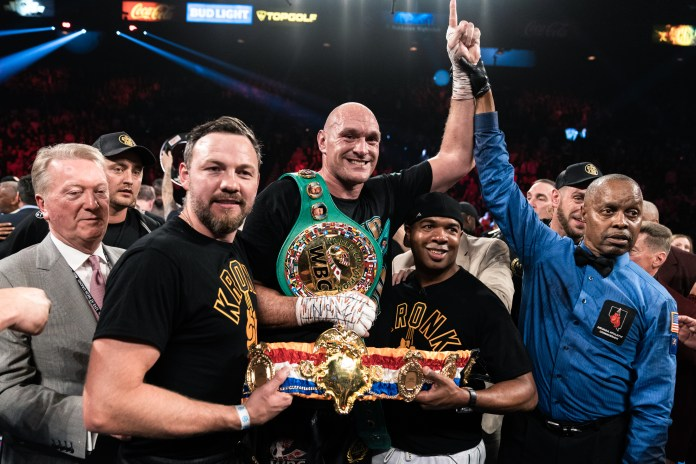 Fury now holds the WBC and Ring Magazine heavyweight belts
