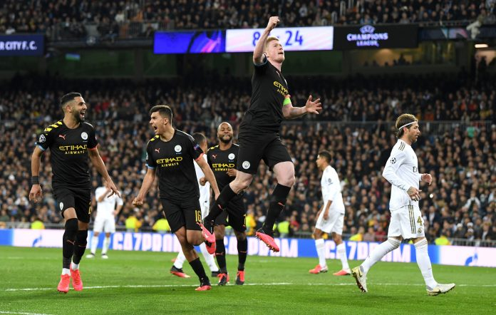 City are on course to advance to this year's Champions League quarter-finals at Real Madrid's expense