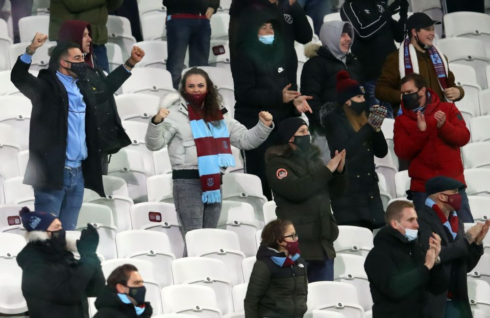 A small number of fans were allowed to return in December, before it was stopped amid rising coronavirus cases