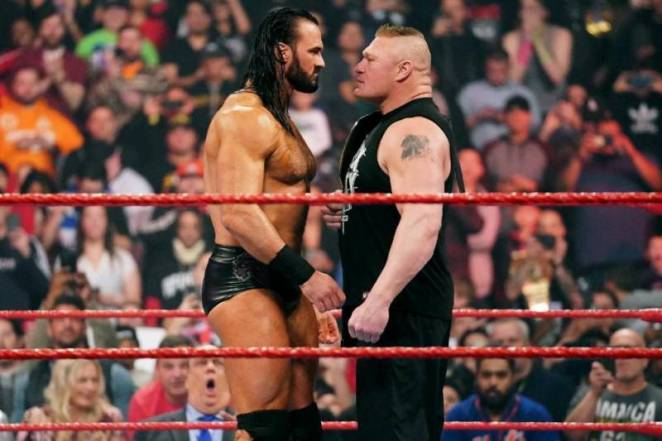 Drew McIntyre and Brock Lesnar will face off at WrestleMania 36