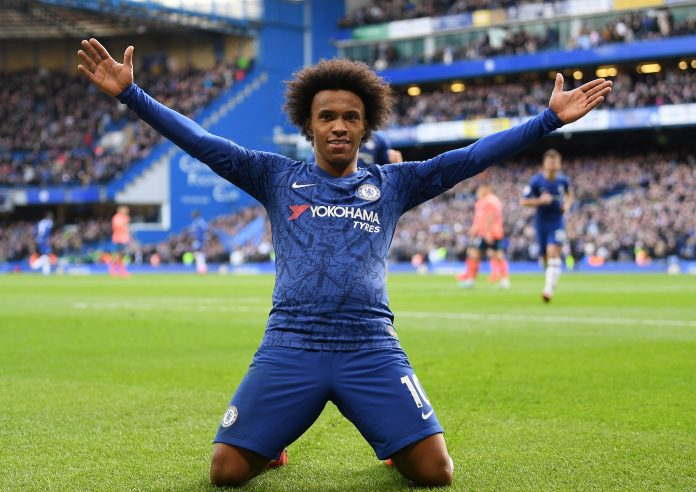 Willian's contract at Chelsea expires on June 30