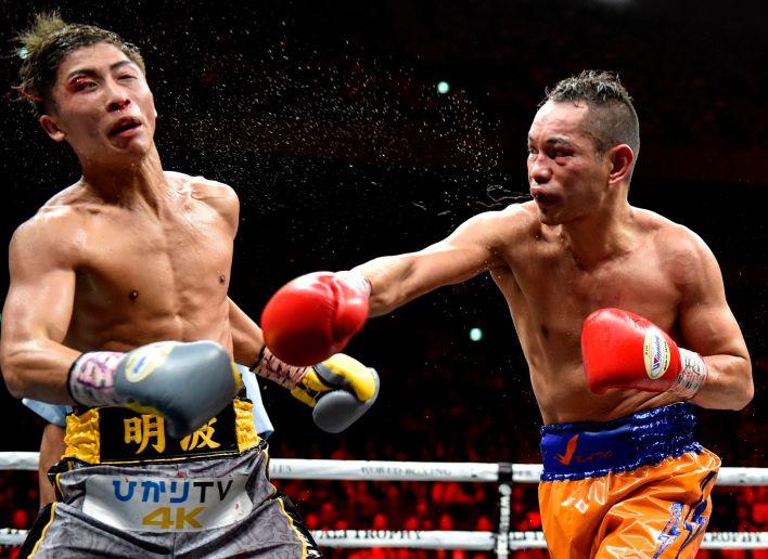 Inoue bir şekilde dokuzuncu turda ayakta kaldı