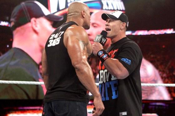 Rock and John Cena had a real heat behind the scenes