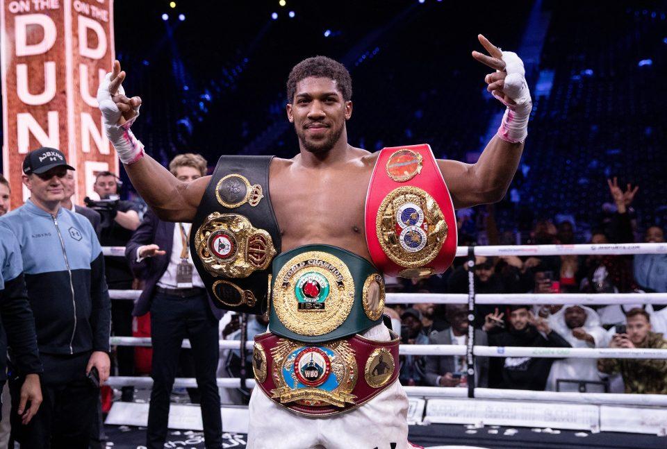 Joshua is the WBA, IBF and WBO champion