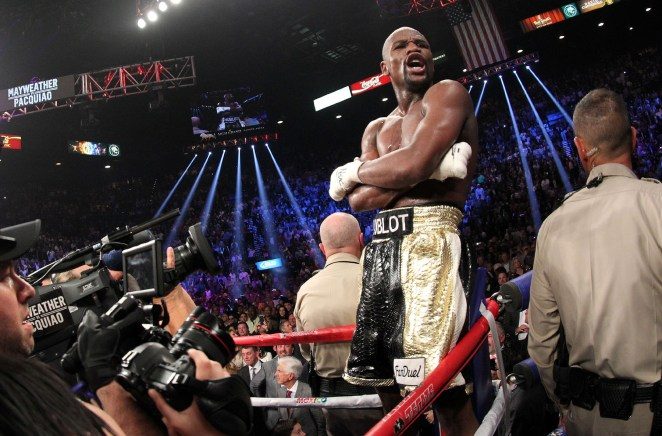 Mayweather retired with a perfect 50-0 record and millions in the bank