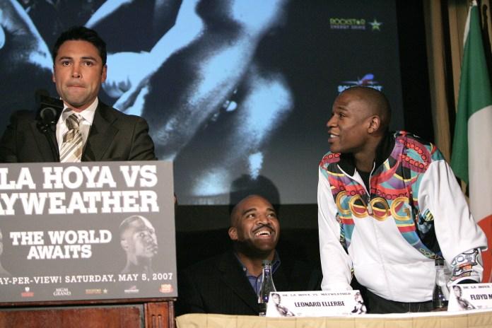 Mayweather's verbal assault on De La Hoya were relentless
