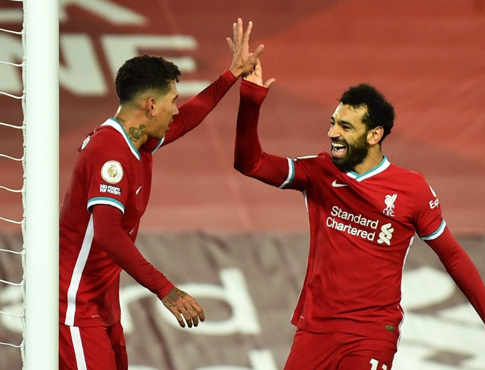 Salah and Firmino formed an incredible front threesome with Mane