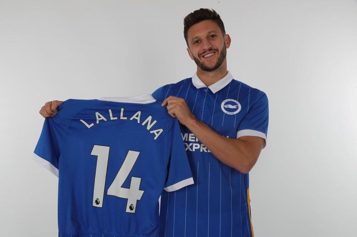 Adam Lallana has joined Brighton and already looks good in their new kit