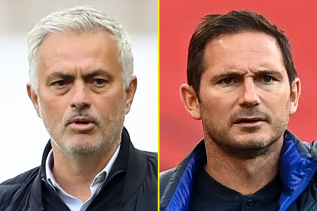 Jose Mourinho's Tottenham take on Frank Lampard and Chelsea in the Carabao Cup fourth round