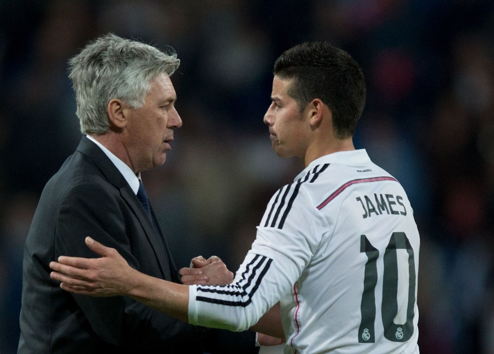 Ancelotti and Rodriguez have reunited once more