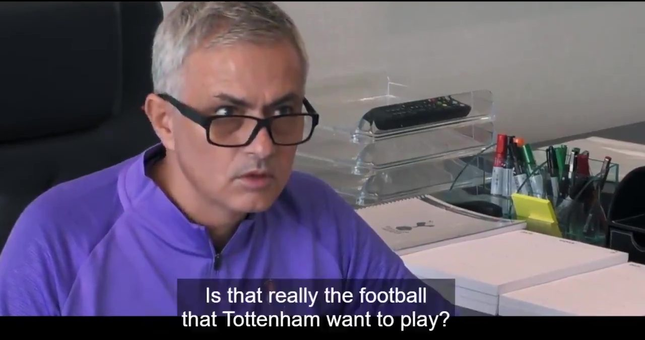 'F*** off' – Tottenham boss Jose Mourinho delivers hilarious response to critics in new Amazon Prime docum thumbnail