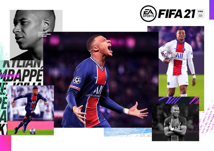 Kylian Mbappe is the cover star for FIFA 21