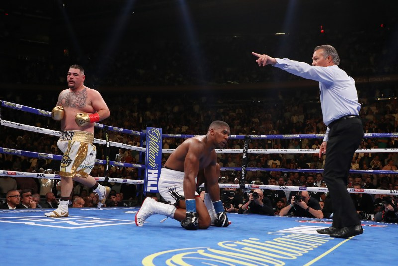Joshua was infamously stopped emphatically by Andy Ruiz in New York last year