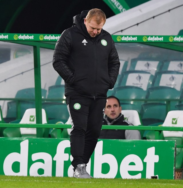 Lennon appears to be on the brink at Celtic after his team's latest disastrous result