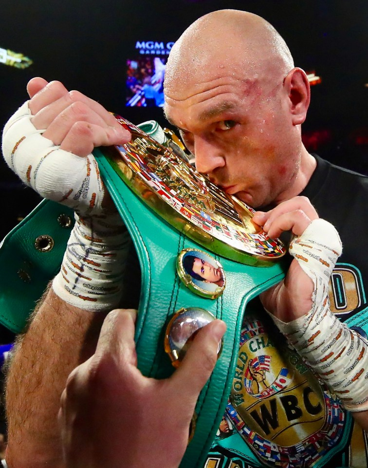 Fury has one belt while AJ has three - the winner will walk away with all four