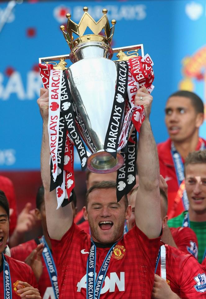 Rooney won five Premier League titles at Man United