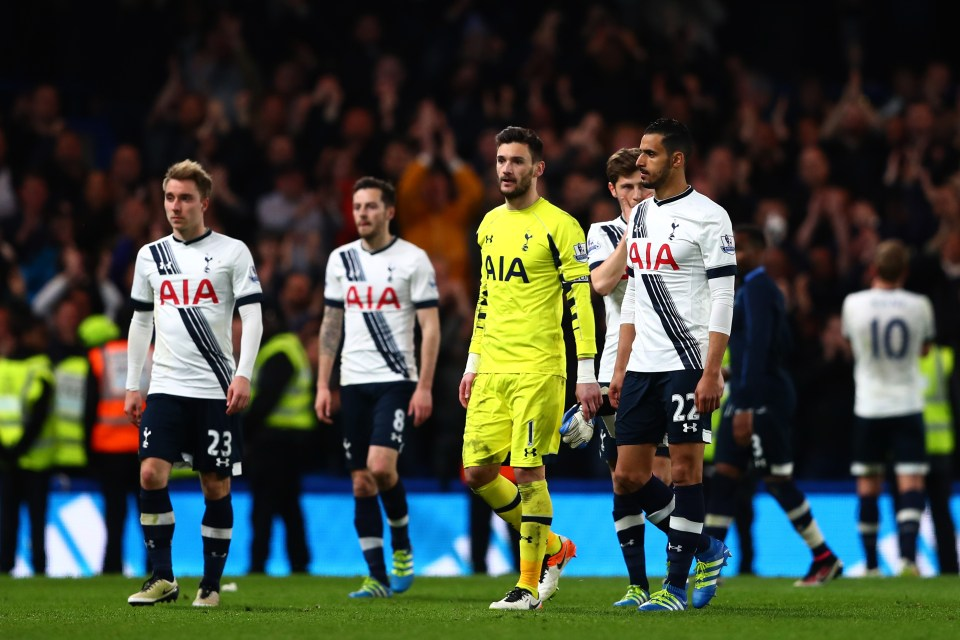 Spurs players were in shock as they lost the league title