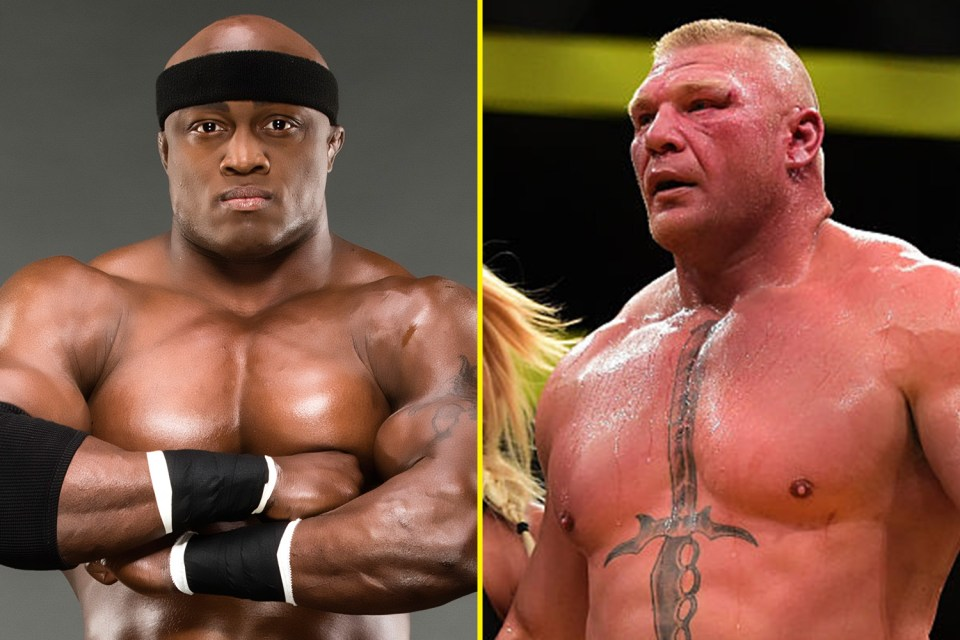 Bobby Lashley and Brock Lesnar are two heavyweights with actual credentials