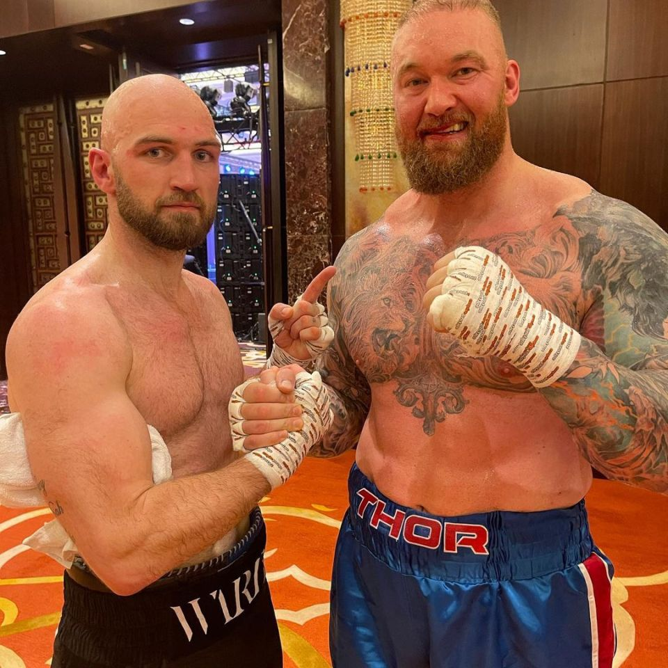 The Mountain looked noticeably leaner when he played a standout boxing match against Steven Ward earlier this year