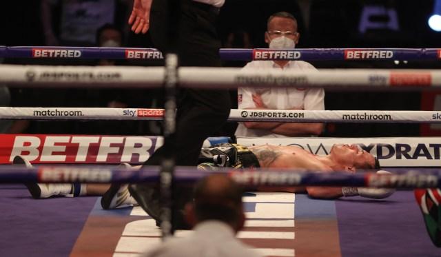 Warrington was KOd in round nine
