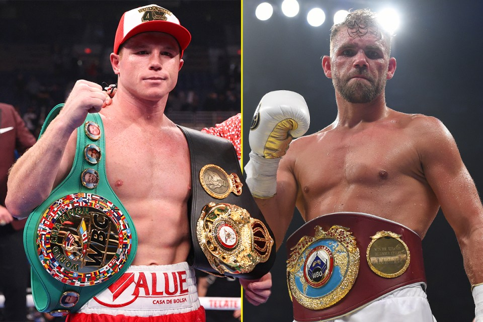 Canelo and Saunders to meet for three of four super middleweight titles
