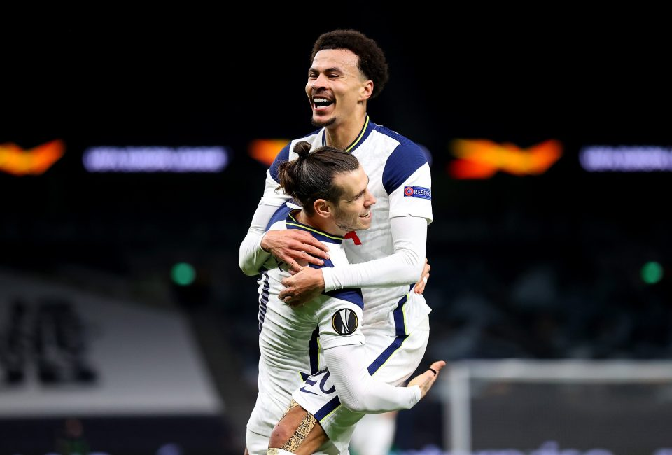 Alli assisted Bale for Tottenham's third goal against Wolfsberger