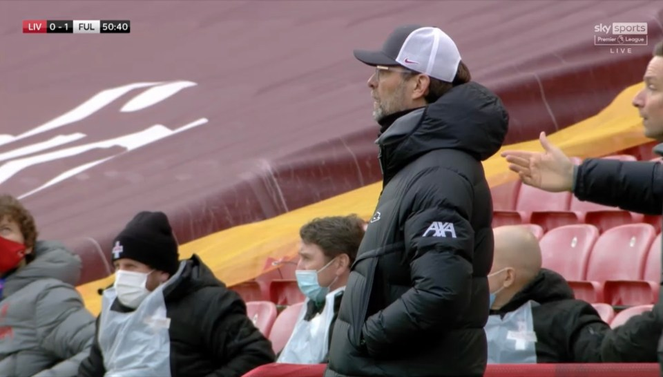 Jurgen Klopp looked up and seemed to see him