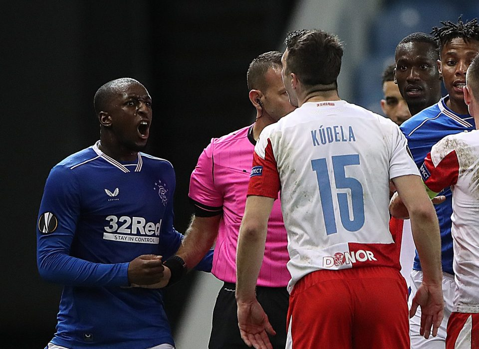 Rangers star Glen Kamara was reportedly racially abused in their Europa League loss to Slavia Prague last month