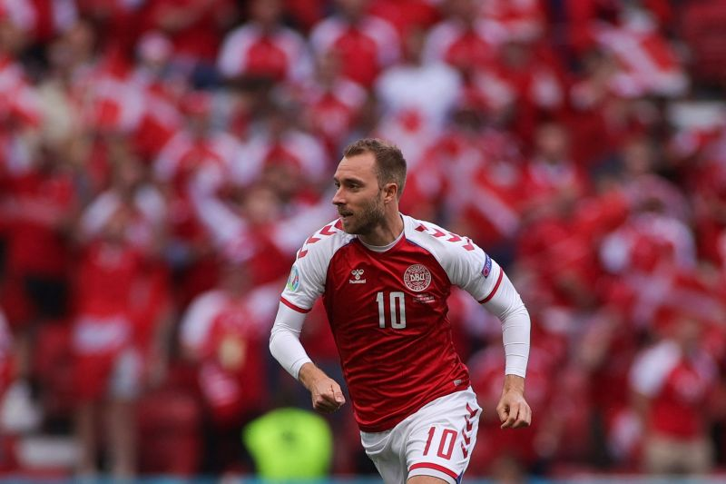 Belgium paid tribute to no.10 Eriksen in their Group B match with Denmark today