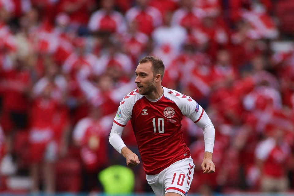 Belgium paid tribute to No.10 Eriksen in their Group B match against Denmark today