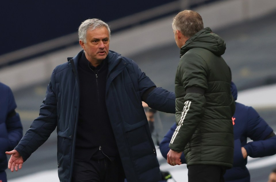 Mourinho was beaten by his former club Man United on Sunday
