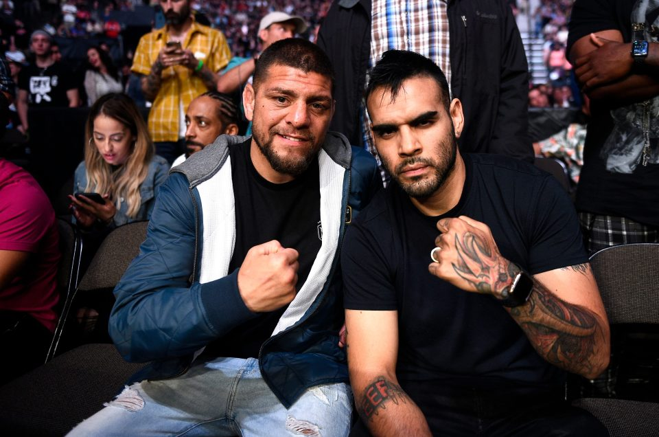 Nick Diaz was pictured in the crowd at UFC 261