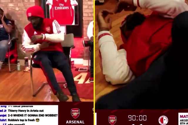 Ty was every Arsenal fan after Slavia Prague struck a late equaliser