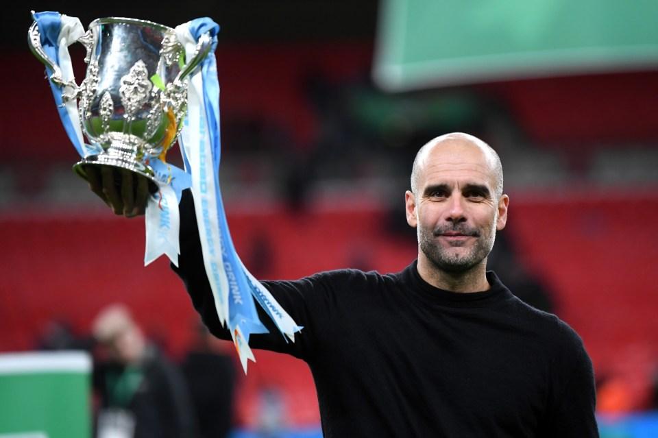 Guardiola's man City have already won the Carabao Cup this season