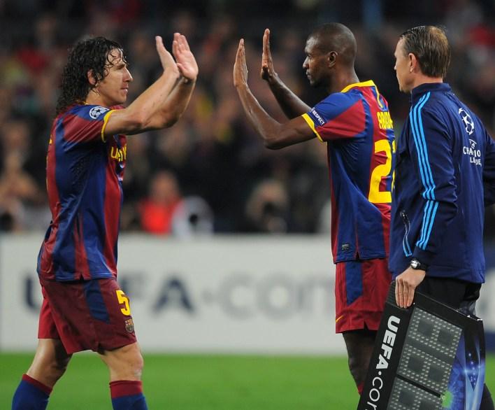 Puyol ve Abidal, altı yıldır Barcelona takım arkadaşıydı