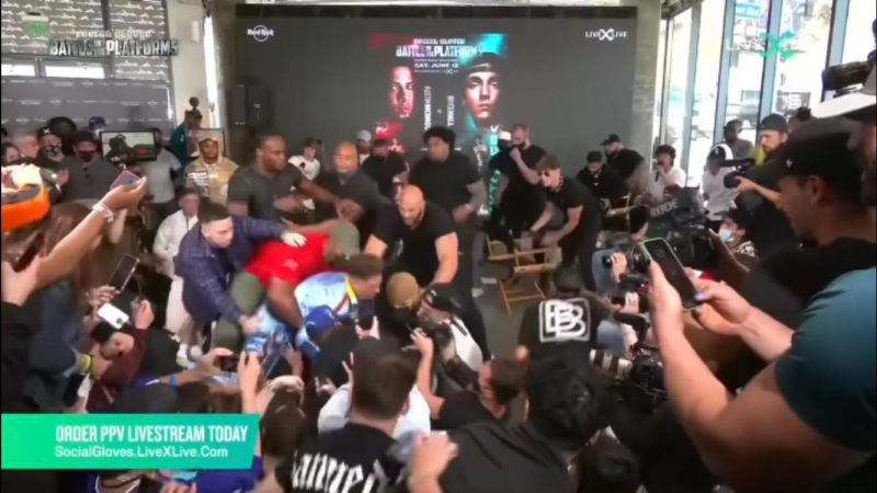 The YouTubers vs TikTokers press conference went viral