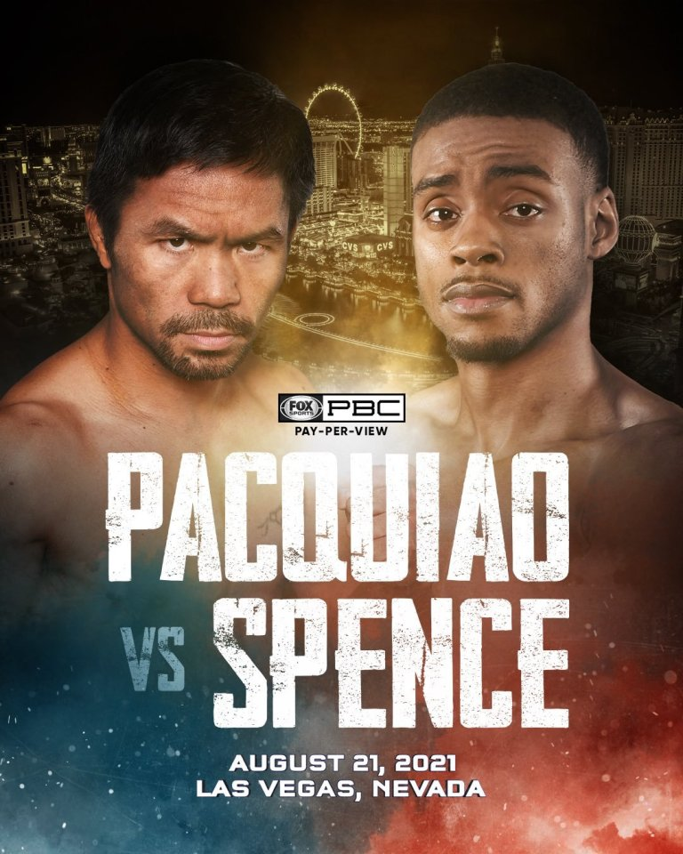Pacquiao vs Spence is set for August 21