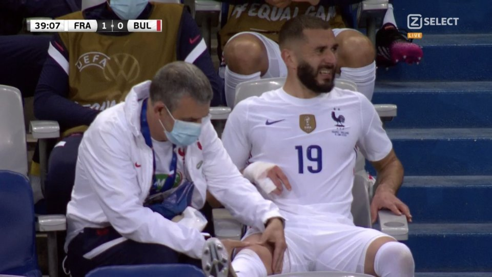 Benzema was clearly in some discomfort