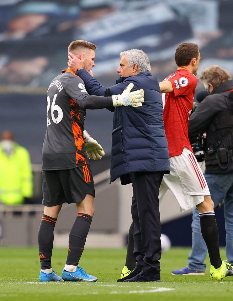Mourinho is a big fan of Henderson's and greeted him warmly when Tottenham played Man United