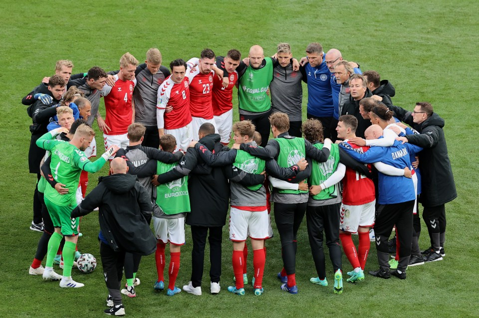 The Danish players showed tremendous enthusiasm to play the rest of the match