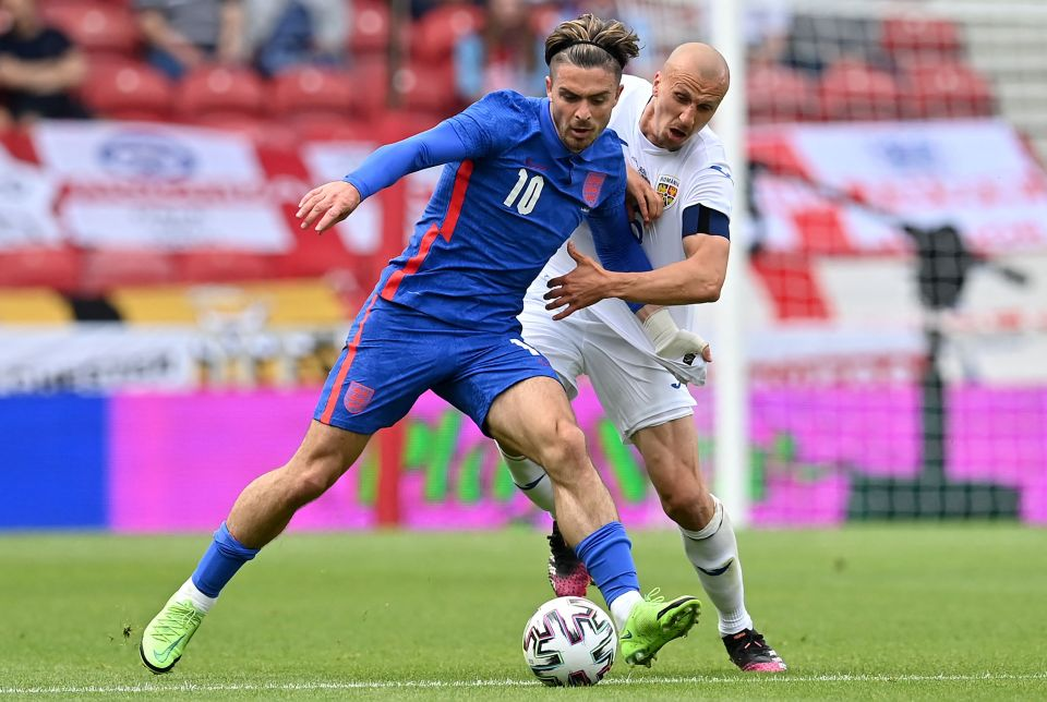 Grealish is expected to be benched for England's first game at Euro 2020 despite his impressive form