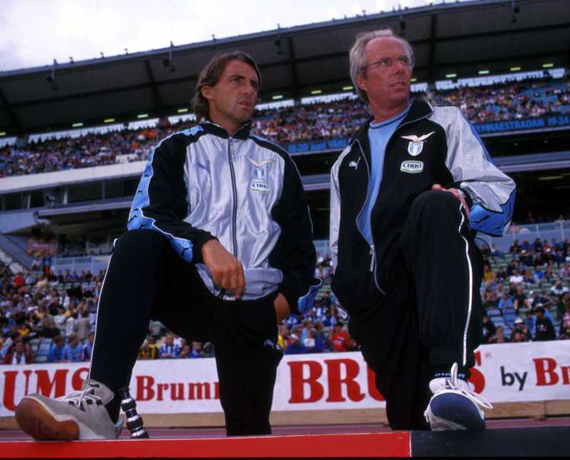 It's no surprise Mancini became a coach for Eriksson later in his career