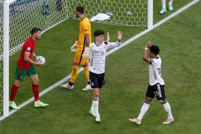 Havertz scored his first goal at a major international tournament