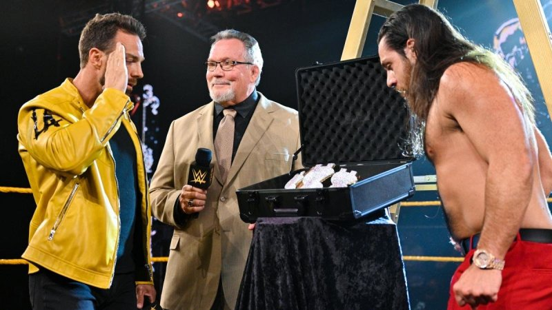 LA Knight and Grimes check out Ted DiBiase's spoils