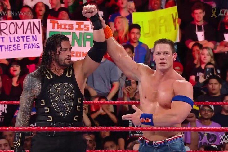 A real passing of the torch between John Cena and Roman Reigns